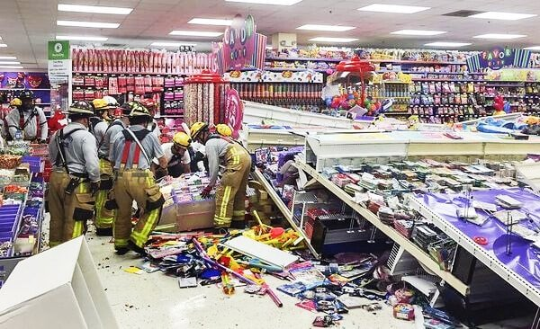 Retail Shelving Collapse